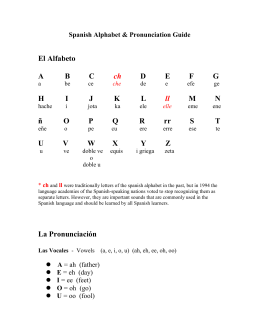 Spanish Alphabet & Pronunciation Guide