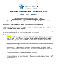 2015 Health IT Innovation Award App