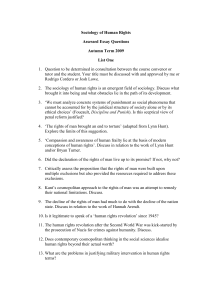 Assessed Essay Questions Terms 1 & 2