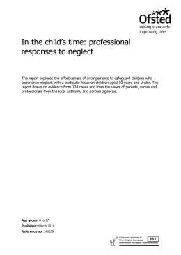 In the child`s time: professional responses to neglect