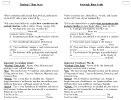 NOTES: Sect 9-4 Geologic Time Scale