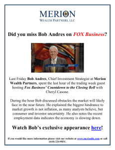 Did you miss Bob Andres on FOX Business? Last Friday Bob Andres