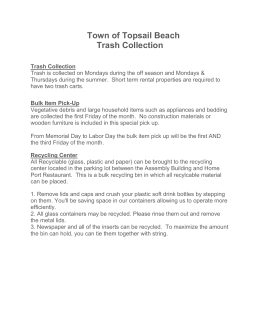 trash collection information