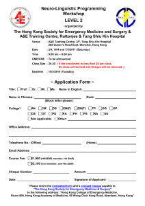Application Form in word file - Hong Kong College of Emergency