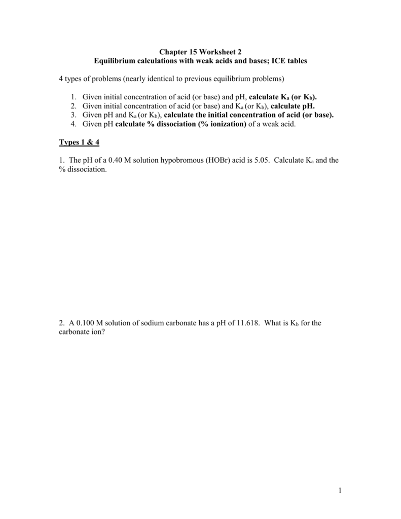 Worksheet Worksheet Ph Calculations Worksheet Fun Worksheet Study Site