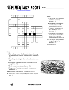 Sedimentary Rocks Crossword - pita