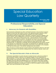 Special Education Policy Issues in Washington State