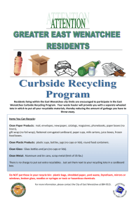 East Wenatchee Curbside Recycling