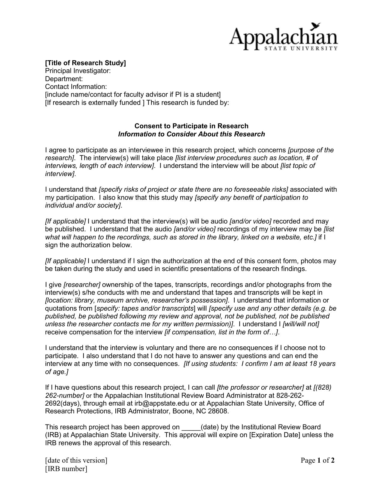 Interview consent form doc 385 kb platinumwayz