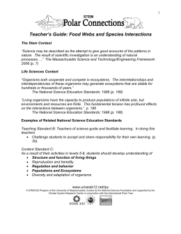 Food Webs and Species Interactions: Teacher`s Guide