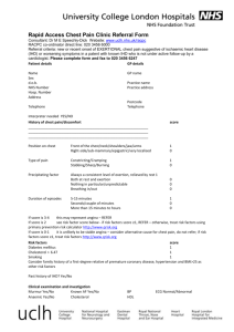 UCH rapid access chest pain clinic referral form