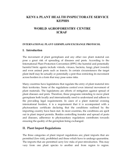 phytosanitary regulations - World Agroforestry Centre