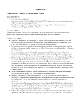 Language Facilitator job description