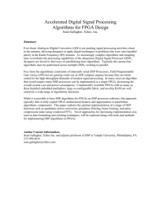 Accelerated DSP algorithm computation using FPGAs
