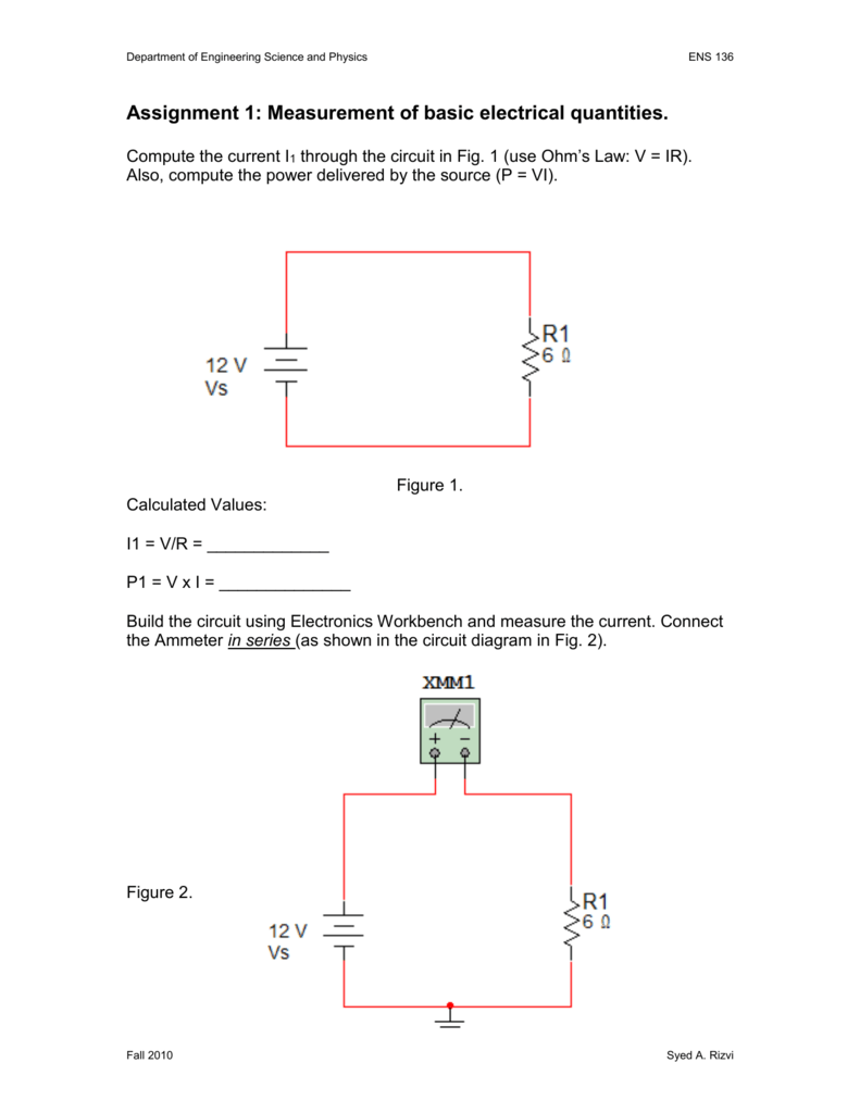 Ens136hw3 Basic Electrical Circuit Design