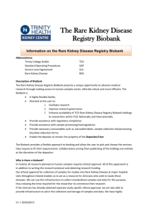 RKD BioBank Information and Questionnaire