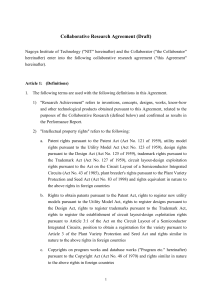 Collaborative Research Agreement