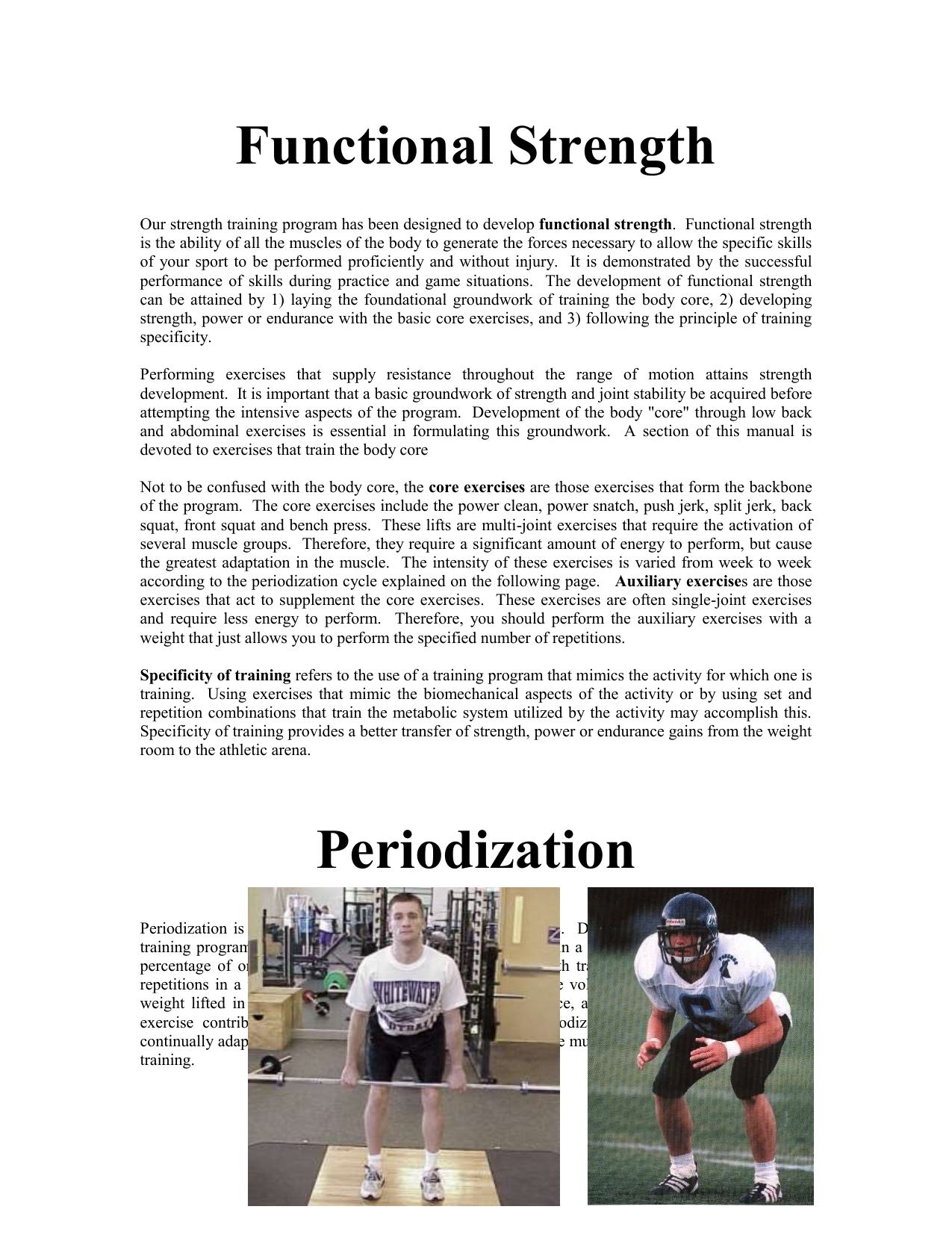 Strength Training Philosophy - UW