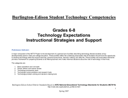 Tech Competencies Grades 6-8 - Burlington