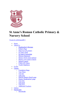 Attainment - St Anne`s RC Primary School