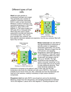 Different types of fuel cells