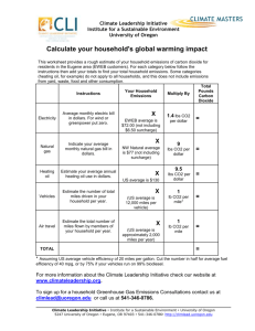 Carbon Calculator template - The Resource Innovation Group