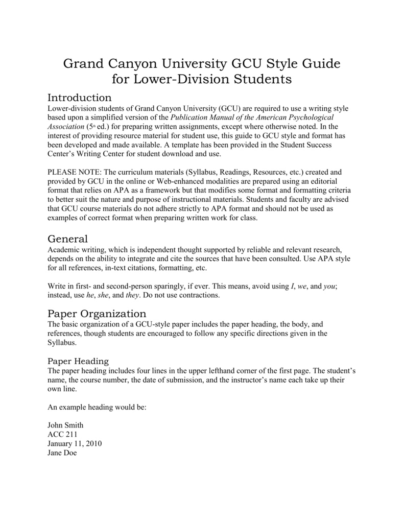 simplified gcu reference citation guide