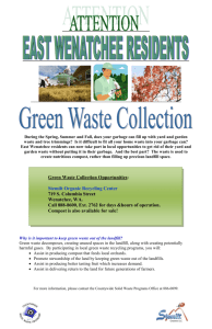 East Wenatchee Green Waste Collection