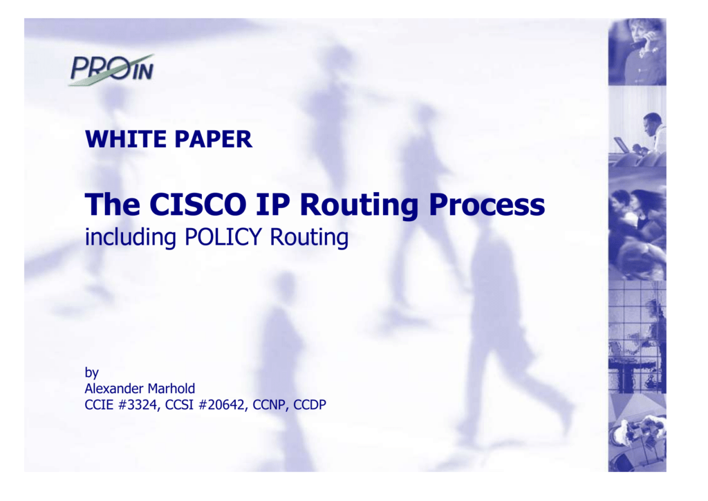 The CISCO IP Routing Process on