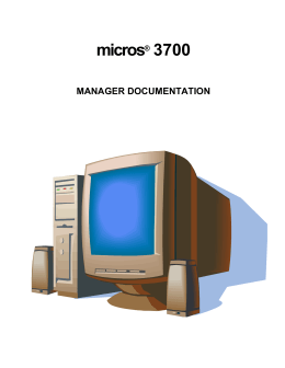 DOC MICROS 3700 Managers Manual