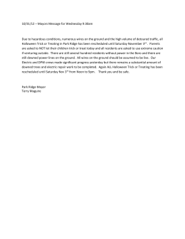 Mayor`s Message - Park Ridge Municipality