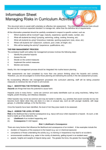 Information Sheet - Managing Risks in Curriculum Activities