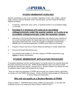 Student Membership Guidelines - California State University, Los