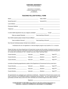 Teaching Fellow Payroll Form