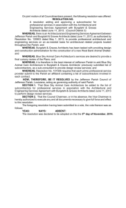 Resolution - Jefferson Parish Government
