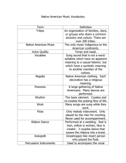 Native American Music Vocabulary