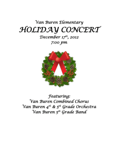 Van Buren Elementary HOLIDAY CONCERT December 17th, 2012