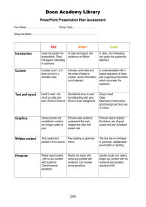 PowerPoint Presentation Peer Assessment Rubric