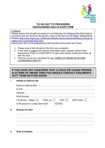 Safeguarding Adults Alert Form