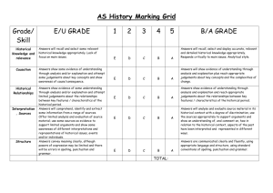 AS History Marking Grid