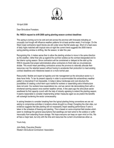 Season Extension - Western Silvicultural Contractors` Association
