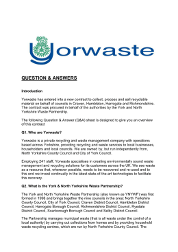 Question & Answer - Harrogate Borough Council