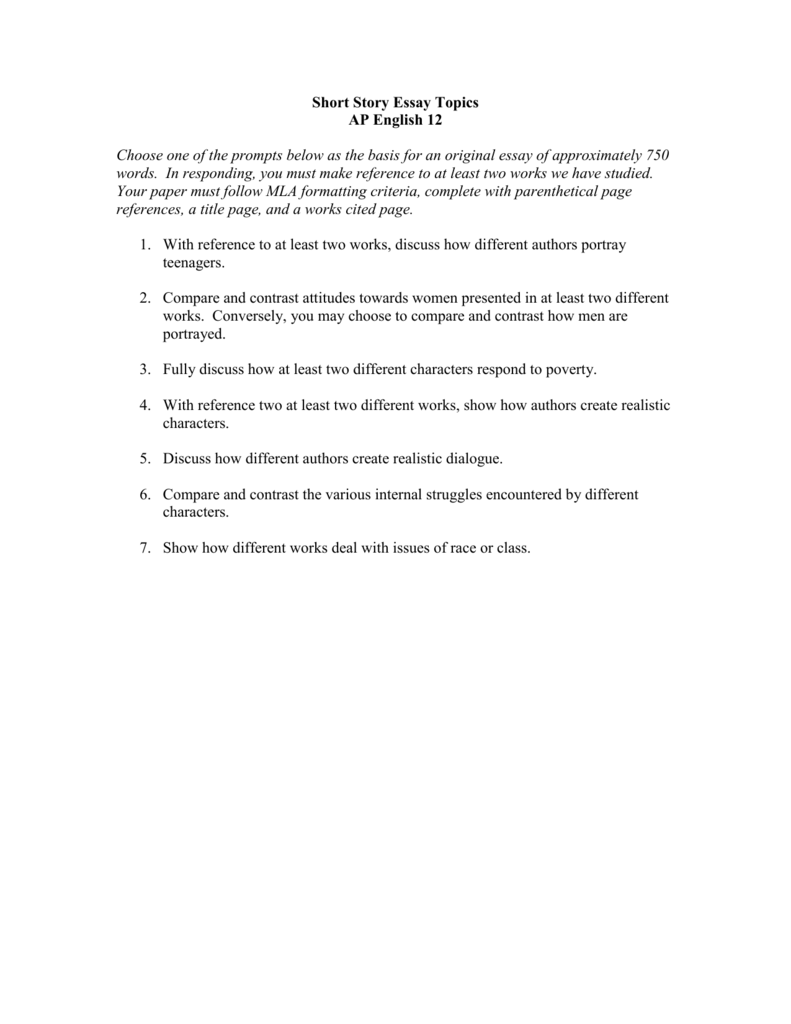 How To Write A Conclusion For A Persuasive Essay  Problem And Solution Essay Topics also Spelman College Essay Short Story Essay Topics Essays On Literature