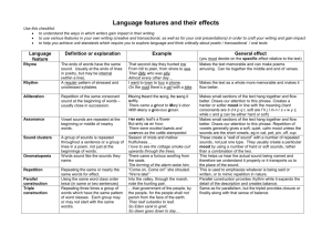 Language features and their effects