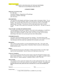 Sample Consent Form #2 - University of Alaska Anchorage