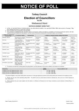 Notice of Poll - Wellswood