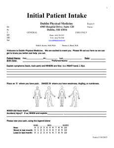 Patient Intake Form - Dublin Physical Medicine