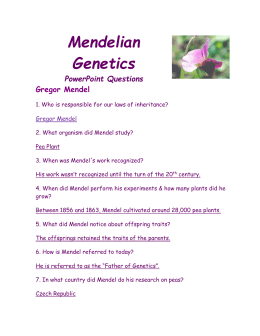 mendelian genetics powerpoint questions gregor mendel 1 who is. Black Bedroom Furniture Sets. Home Design Ideas