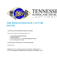 INSTRUCTIONAL POLICY - Tennessee School for the Blind