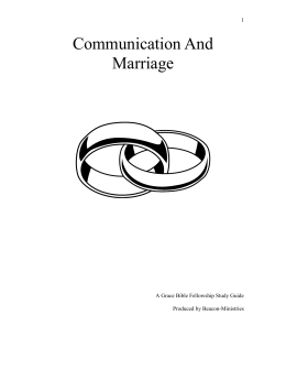 Communication and Marriage - Beacon